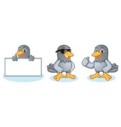 Pigeon Mascot bring board vector image vector image