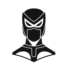 superhero in flat silhouette style vector image vector image