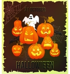 Vertical Halloween grunge banners with pumpkin vector image vector image