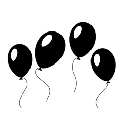 Baloons in black and white vector image vector image