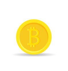 golden bitcoin digital currency isolated on white vector image