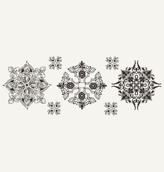 Three Ornate Elements vector image vector image