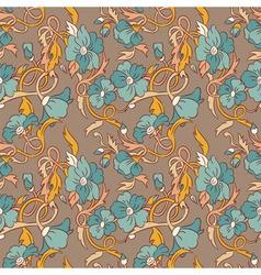 vintage style floral wallpaper vector image vector image