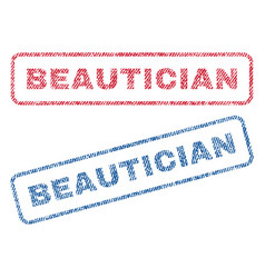 Beautician textile stamps vector