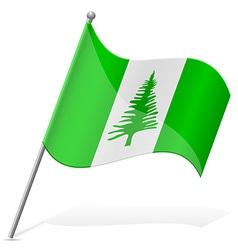 Flag of norfolk island vector