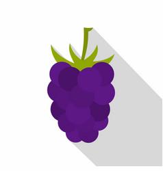 fresh blackberry icon flat style vector image vector image