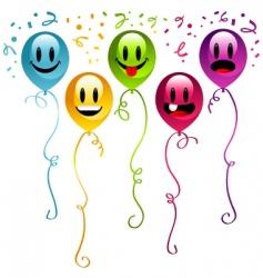 smiley balloons vector image vector image