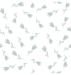tulips seamless pattern vector image