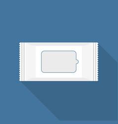 Wet tissue paper wipe package vector