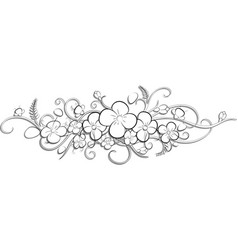 a branch a flower-2 vector image