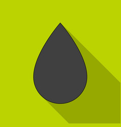 a drop of oiloil single icon in flat style vector image