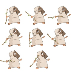 A set of a guinea pigs for a computer game vector