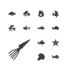 Aquatic icons vector