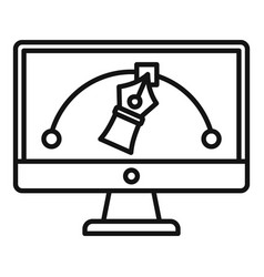 architect draw computer icon outline style vector image