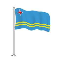 Aruba flag isolated wave flag country vector