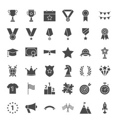 award solid web icons vector image