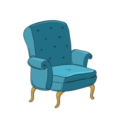 Beautiful vintage chair vector