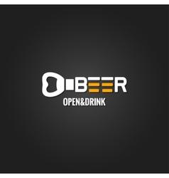 Beer opener design background vector