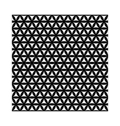 black flower of life sacred geometric background vector image