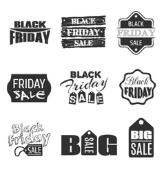 Black friday typographic design sale label vector image