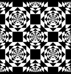 black kaleidoscope mirage on white background vector image