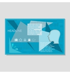 Blue annual report brochure flyer design template vector image