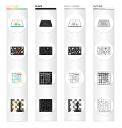 board game cartoon icons in set collection for vector image