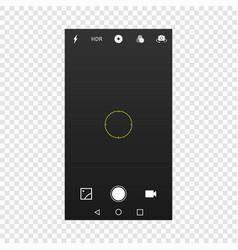 camera screen mobile cellphone vector image