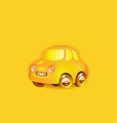 car yellow most top-end toy color in style funny vector image
