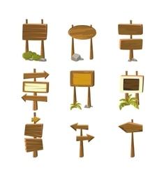 Cartoon Wood Banners vector image