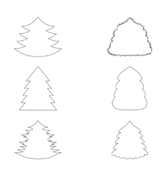 Christmas Trees Outlines vector