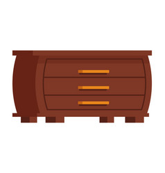 Clothes cupboard icon cartoon isolated vector