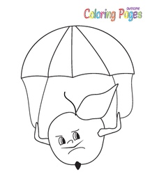 coloring-book-apple-parashooter vector image