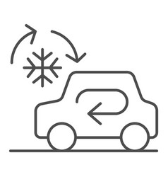 cooling car system thin line icon auto air vector image