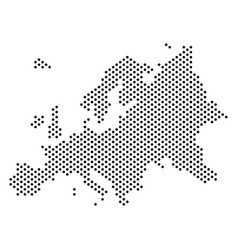 Dotted europe map vector