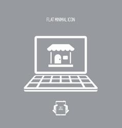 e-shop - flat minimal icon vector image