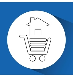 Ecommerce online buy business technology vector