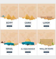 egypt israel time to travel set of travel vector image