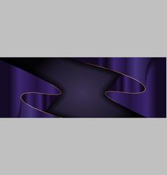 Elegant dark navy and gradient purple and golden vector