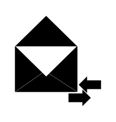 envelope with incoming and outgoing arrows icon vector image