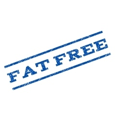Fat Free Watermark Stamp vector image