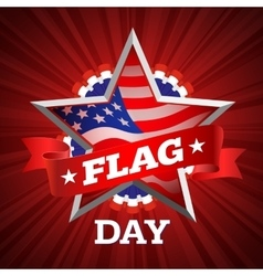 flag day card vector image vector image