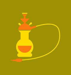 Flat icon on stylish background eastern hookah vector