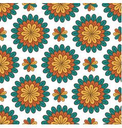 Floral seamless pattern modern background with vector