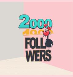 Follower banner comic text pop art design vector