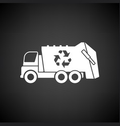 Garbage car recycle icon vector