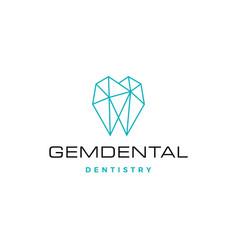 Gems dental logo for dentist and dentistry vector