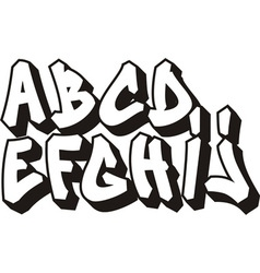 graffiti font part 1 vector image