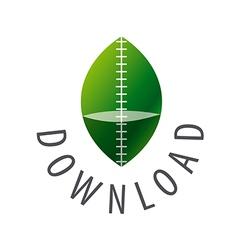 Green leaf logo for download vector