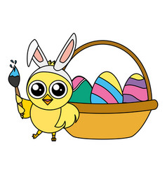 happy chick easter vector image